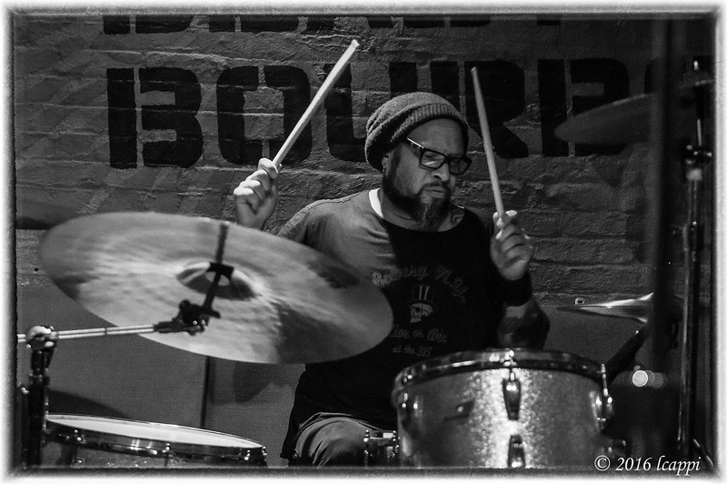 Frank Ferrer of Guns & Roses playing with Mule Kick