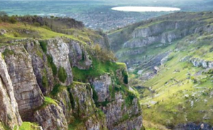 View from Cheddar Gorge to Weston-Super-Mare
