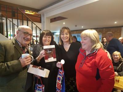 Winners Jon Ward and Coral Fallon with Jo Macaulay Head of Communications ECF and Cathryn Fox