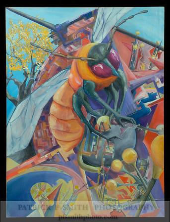 """""""Repair Bee"""" - Oil Painting"""