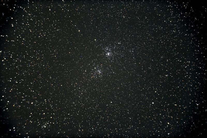 Perseus's double cluster