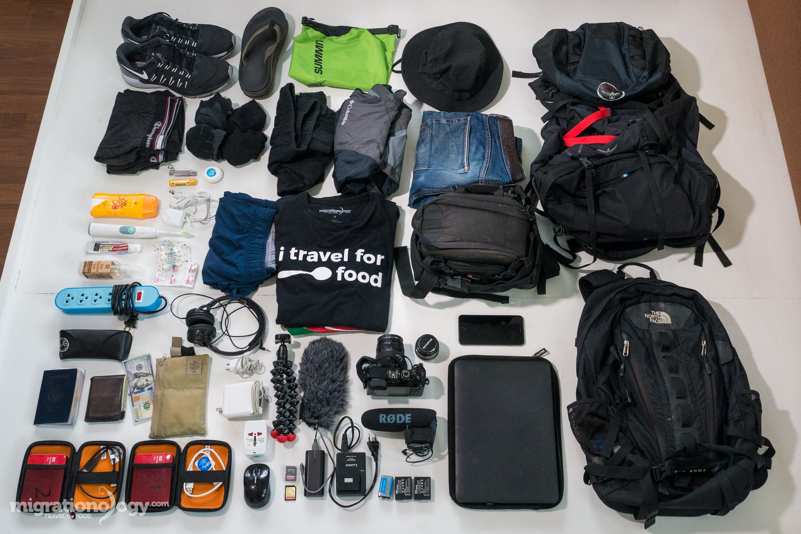 travel packing list