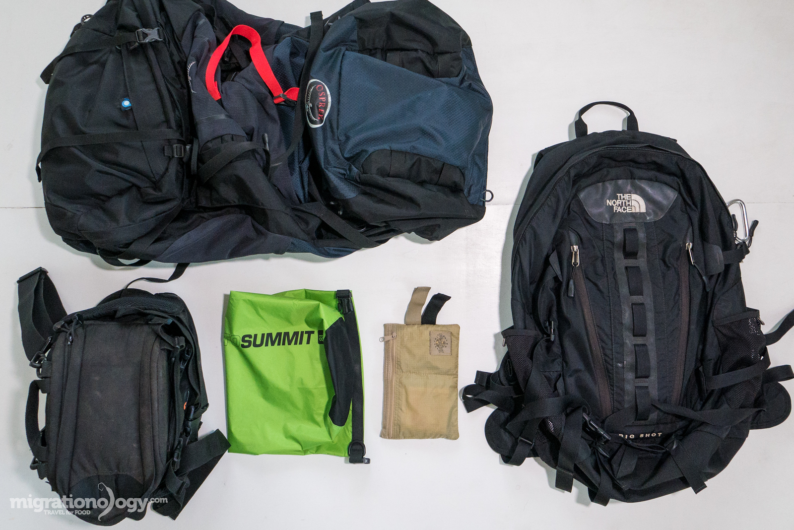 The bags and backpacks I use