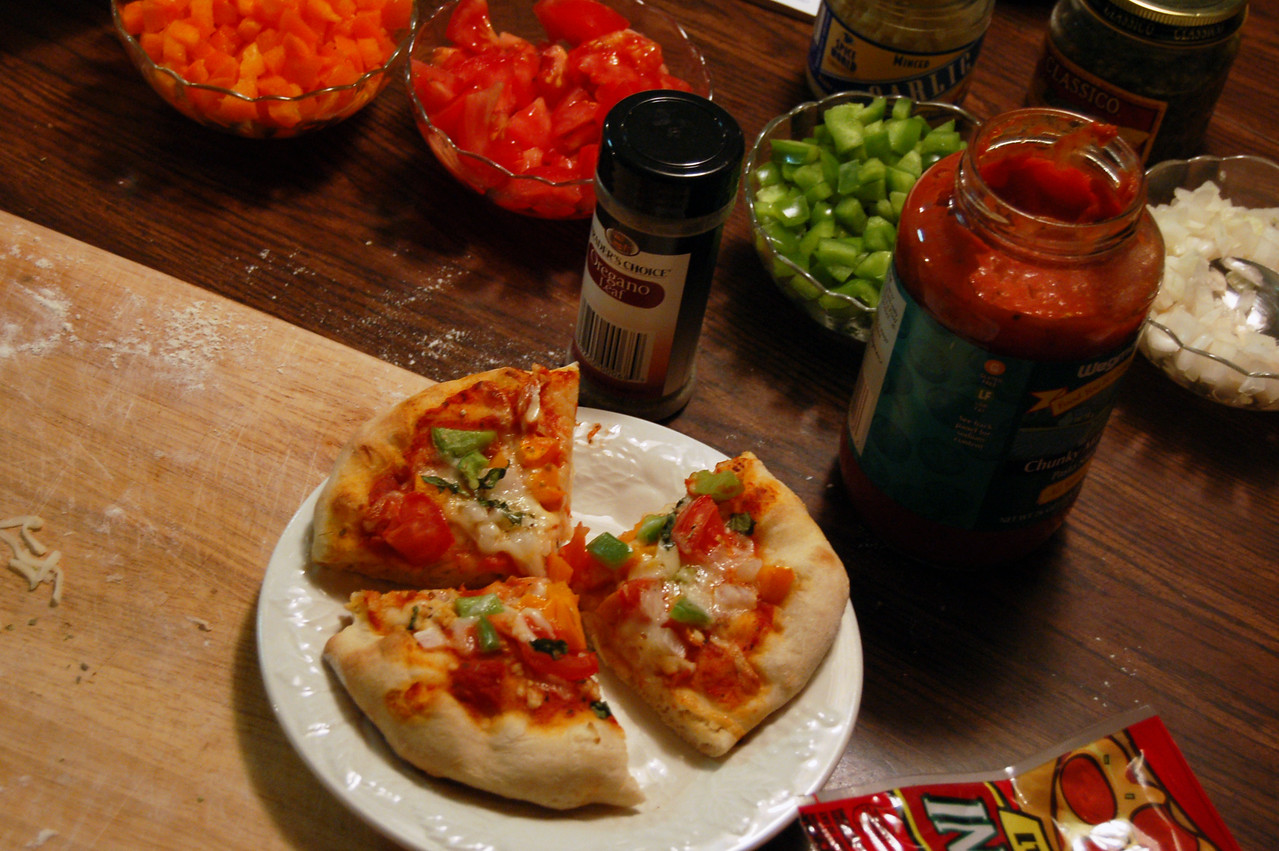Mini Pizza and Toppings