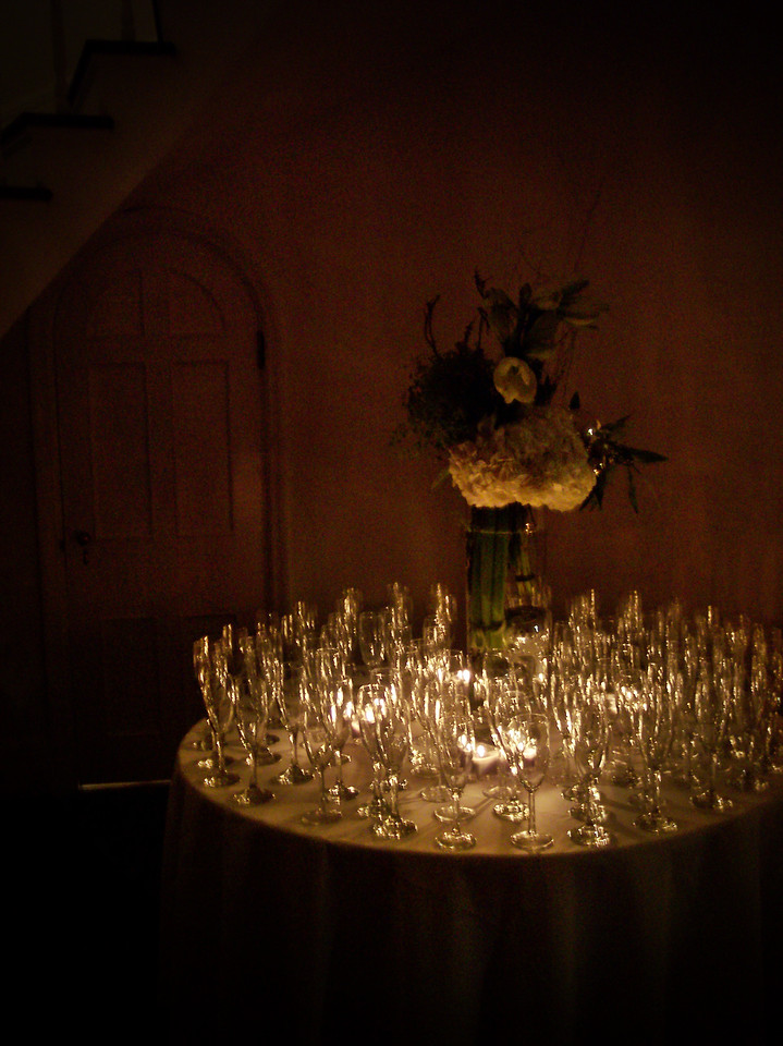 Champagne Glasses in the Foyer