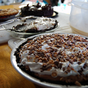 Pie on the counter