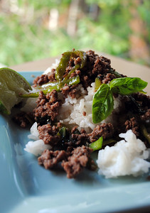 Thai Spicy Beef with Coconut Rice