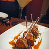 "Duck Meatballs + ""Holiday Cookie"" Martini"