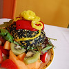 Orange Glory: Spinach Burger with Peppers