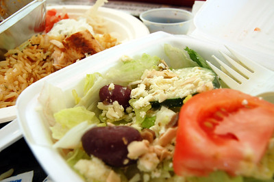 Greek salad and side