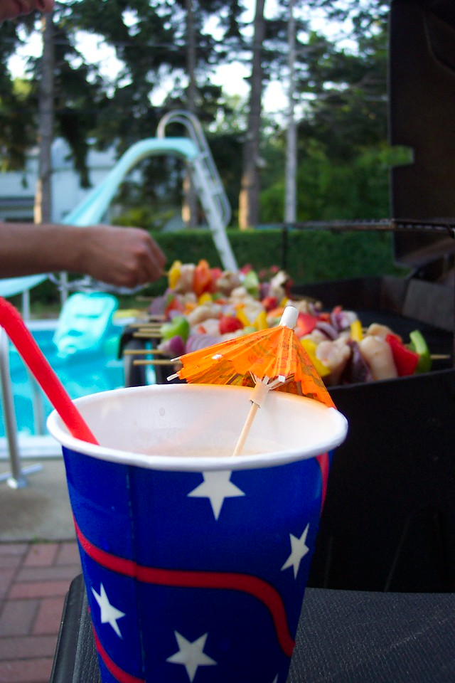 Umbrella Drink by the Grill
