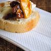 Brie, bread, caramel & nuts