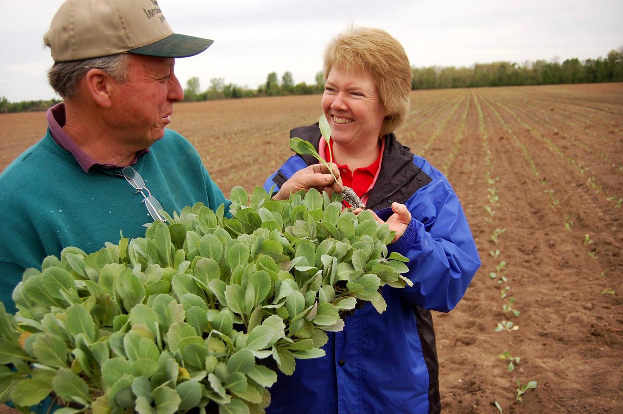 David & Julie with Cabbage