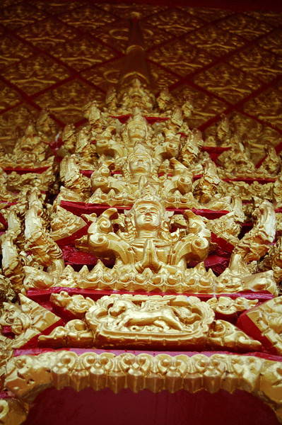 WAT LAO Temple - Doorway Detail
