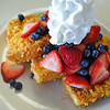 Cap'n Crunch-crusted french toast, with fresh fruit, syrup, and whipped cream  <b>Dewey Diner</b> 2811 Dewey Ave