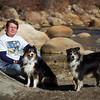Tom Downing with Angus and Roxy