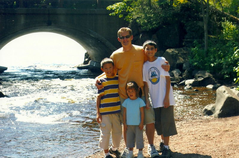 Doug with my grandkids ... Grand Marais, MN