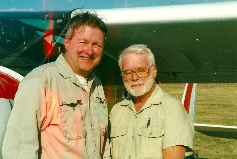 Steve and fellow tow pilot Red Haines.  guess who was towing that day flying directly into the sun.