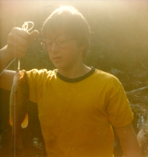 Doug catches dinner in the BWCA