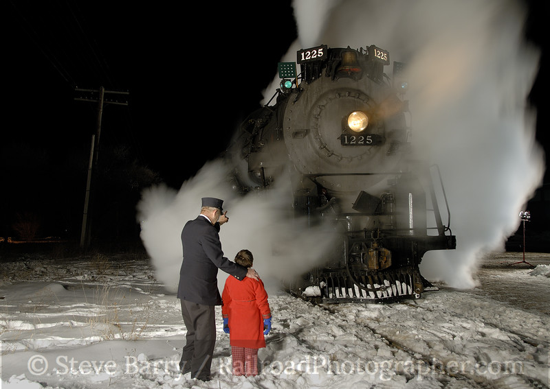 Photo 1091<br /> Pere Marquette 1225; Owosso, Michigan<br /> February 15, 2008