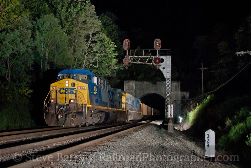 Photo 2177<br /> CSX Transportation; Fort Spring, West Virginia<br /> August 14, 2011