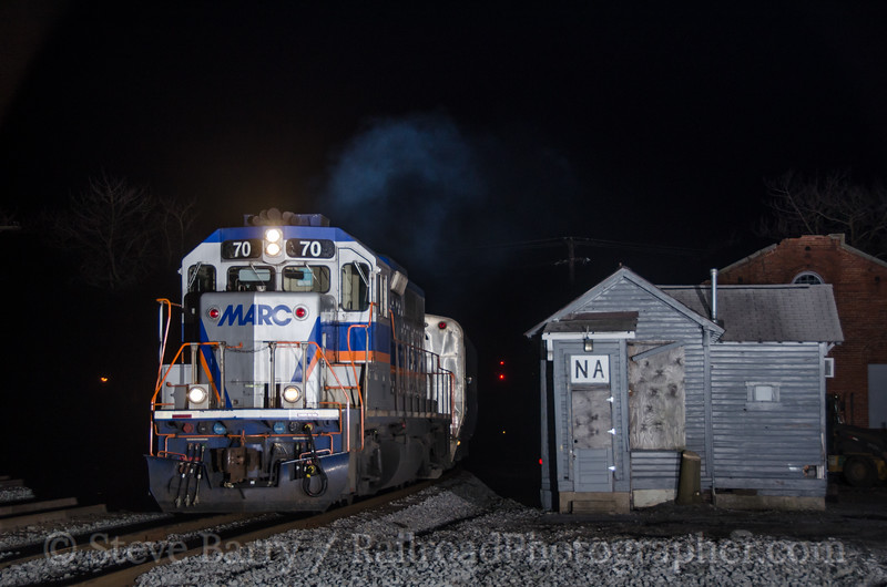 Photo 2643<br /> Maryland Area Rail Commuter; Martinsburg, West Virginia<br /> March 22, 2013