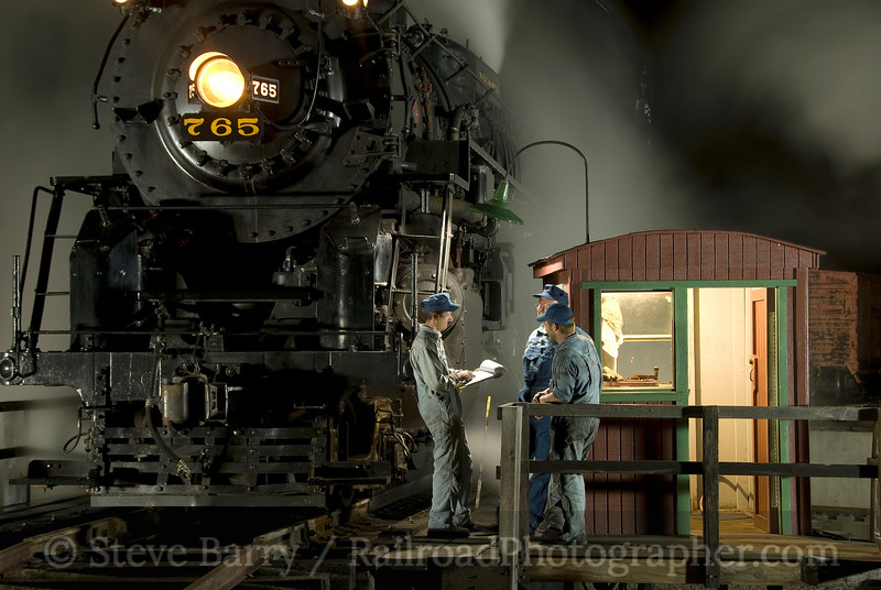Photo 1615<br /> Nickel Plate Road 765; Owosso, Michigan<br /> August 28, 2009