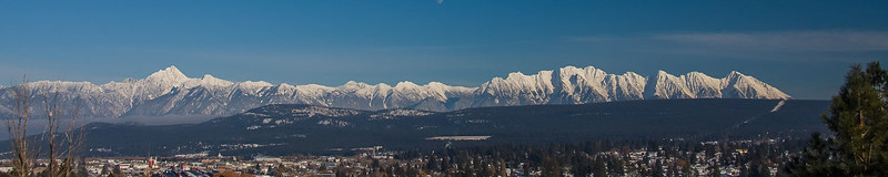 7840-40 Fisher Peak,  The Steeples Range and the City of Cranbrook, BC.