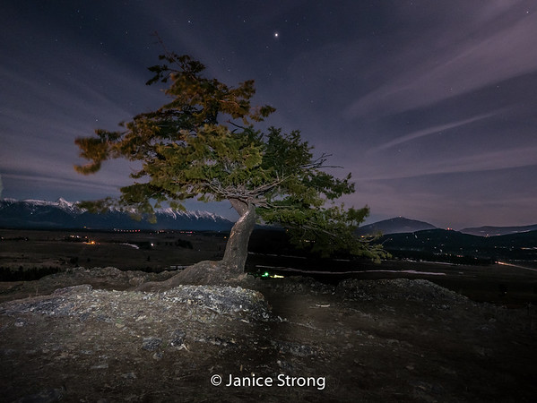 Janice-Strong-Butte at Night