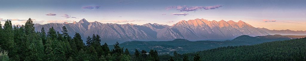 Fisher Steeples Alpenglow 1988 to 1992 Panorama Image
