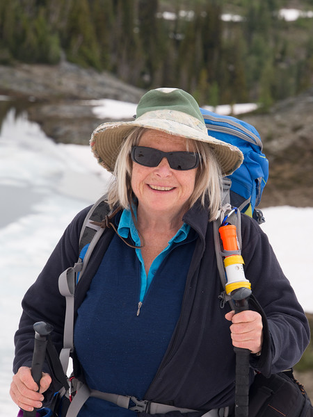 Janice Strong hiking in the East Kootenay