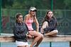 04/18/2014 - Altamonte Springs, Florida - Naples High School Tennis Team Members (L to R) Letizia Atzeni, Nikki Kallenberg and Miranda Mearsheimer listen to the  FHSAA 3a Tennis Tournament Directors instructions before Friday's matches begin.