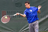 04/18/2014 - Altamonte Springs, Florida - Barron Collier High Schools Allen Sweet returns service during his FHSAA 3A Mens Overall Doubles Championship Match..