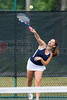 04/18/2014 - Altamonte Springs Florida - Naples High Schools Letizia Atzeni serves the ball  during their FHSAA 3A Girls Overall Doubles Semifinal Match..