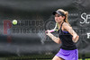 04/18/2014 - Altamonte Springs Florida -Naples High Schools Nikki Kallenberg use a forehand  to return a volley during their FHSAA 3A Girls Overall Doubles Semifinal Match..