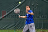 04/18/2014 - Altamonte Springs, Florida - Barron Collier High Schools Allen Sweet returns a forehand volley during his State Championship Overall Doubles Match Friday morning.