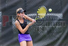 04/18/2014 - Altamonte Springs Florida -  Naples High Schools Nikki Kallenberg use a backhand to return a volley during their FHSAA 3A Girls Overall Doubles Semifinal Match..