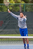 04/18/2014 - Altamonte Springs, Florida - Barron Colliers High Schools Paul Johnson stretches to return a shot during the FHSAA 3A State Tennis Tournament Overall Doubles Title Match.