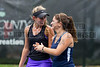 04/18/2014 - Altamonte Springs, Florida - Naples High School Teammates Nikke Kallenberg and Letizia Atzeni share a laugh during a break in their FHSAA 3A Overall Girls Doubles Semifinals Match..