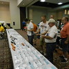 """Dan Kohlberg (center) at his tables of custom (mostly Illinois Central) decals.<br /> <a href=""""http://paducah.home.mindspring.com/"""">http://paducah.home.mindspring.com/</a>"""