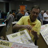"""Keith Hapes at the Plano Model Products tables - lot and lots of etched model parts.<br /> <a href=""""http://www.planomodelproducts.com/"""">http://www.planomodelproducts.com/</a>"""