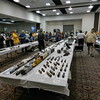 Looking toward the center of the room, more model displays and model manufacturers to the far left.