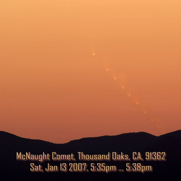 McNaught Comet over SoCal