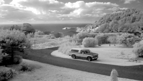 Oceanside, Oregon. Infrared shot with Hoya 72 filter.