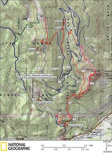 Don Nelsen's Hardy Ridge - Hamilton Mtn Map Saved here for posterity