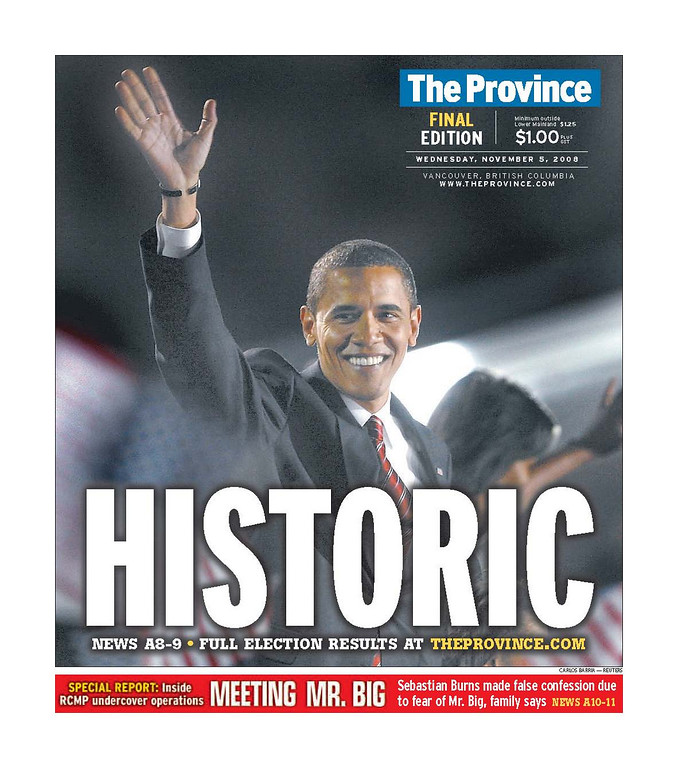 The Province, published in Vancouver