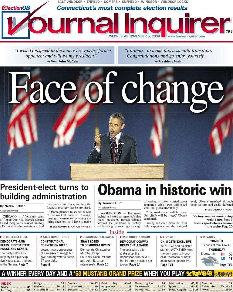 Journal Inquirer, published in Manchester