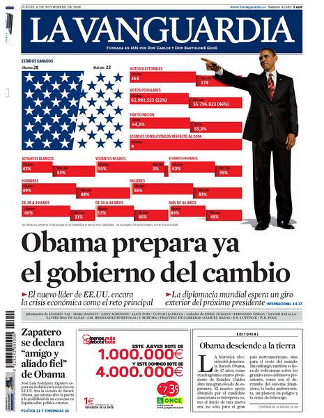 La Vanguardia, published in Barcelona, Spain