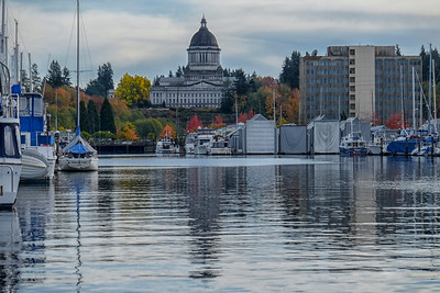 Washington State Capital budd bay reflection fall 10-22-16