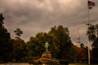Lexington Green Minuteman Statue Lexington MA 10-9-15 - Copy